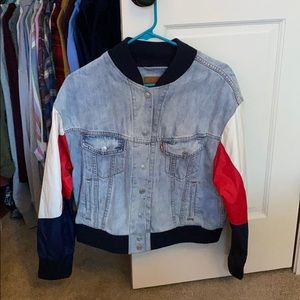 Levi's Jean jacket with fancy sleeves